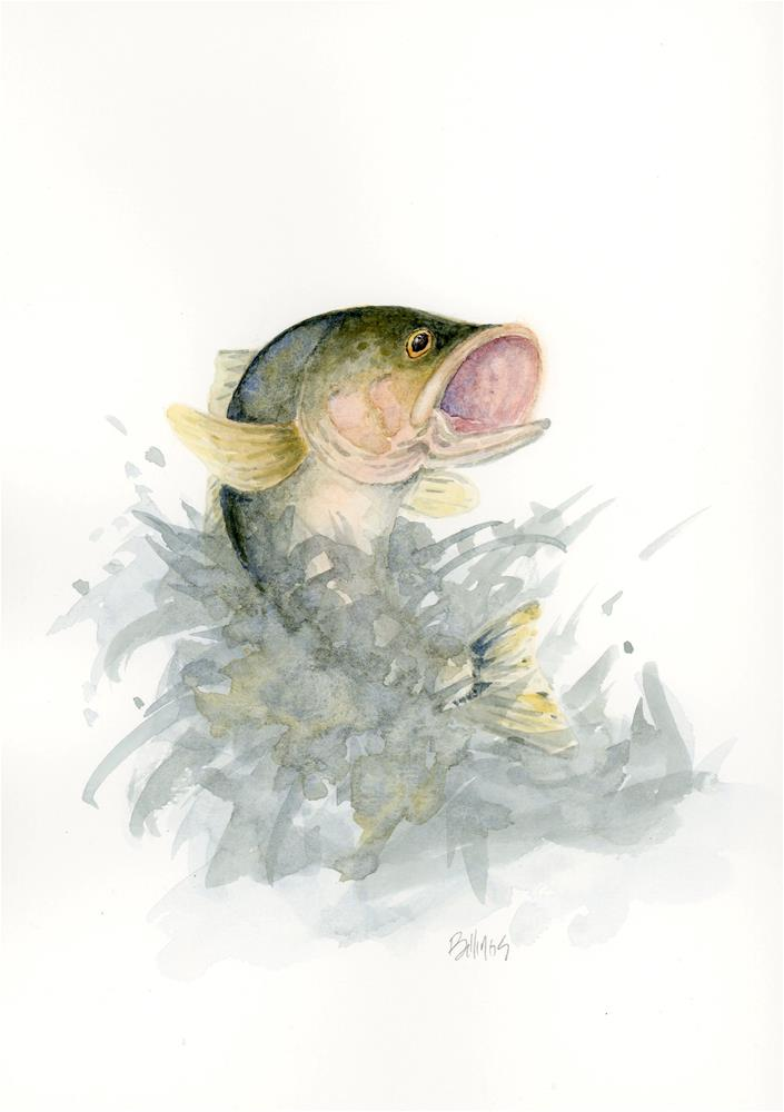 """All About the Bass I"" original fine art by Susanne Billings"