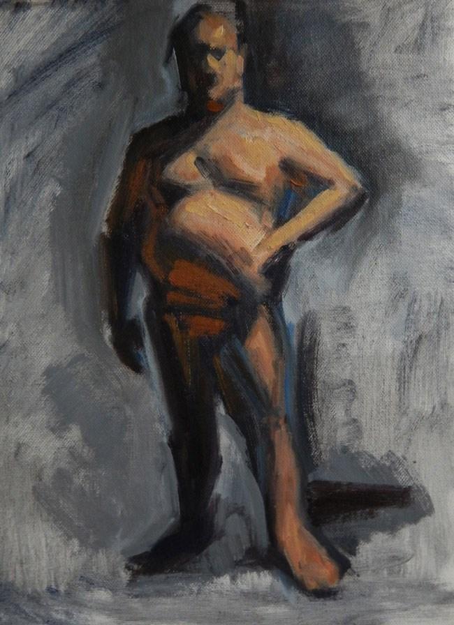 """""""Patrick, 9 x 12 inches, oil on canvas board, 2014"""" original fine art by Megan Schembre"""