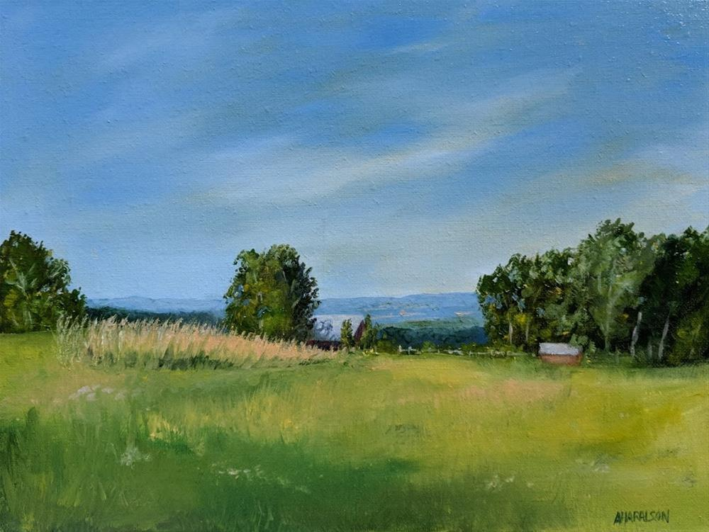 """Summer Evening Plein Air"" original fine art by Annemiek Haralson"