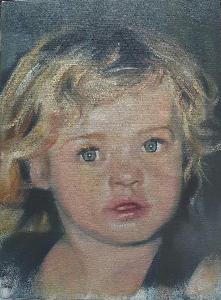 """Little angel"" original fine art by Rentia Coetzee"