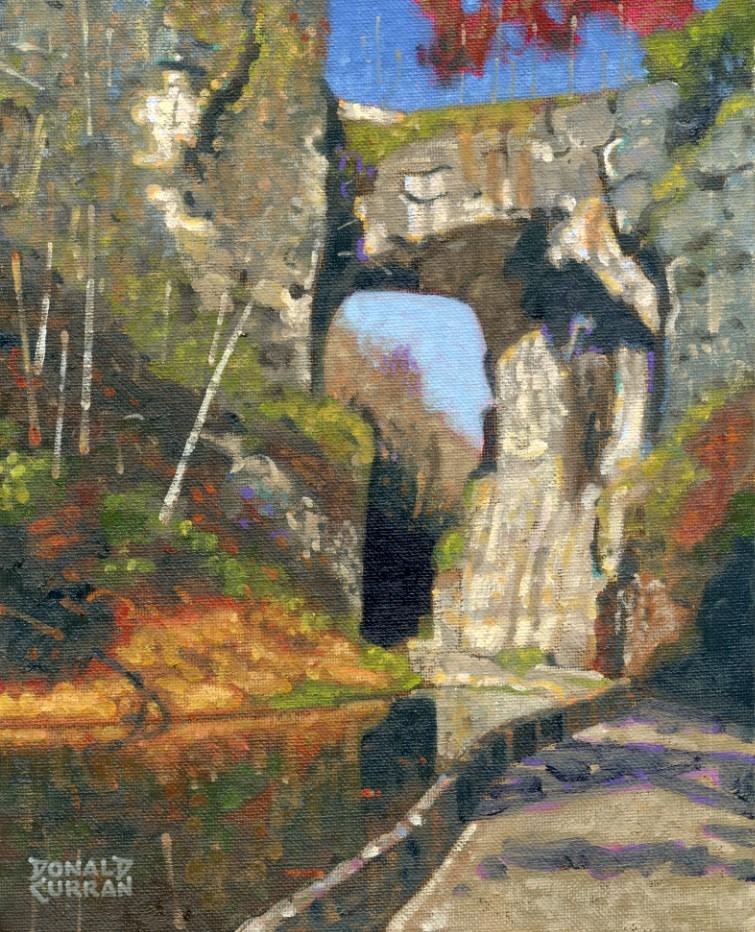 """Natural Bridge, Virginia"" original fine art by Donald Curran"