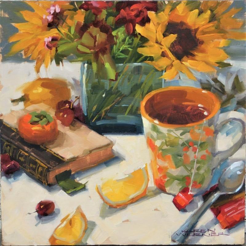 """Tea Time"" original fine art by Karen Werner"