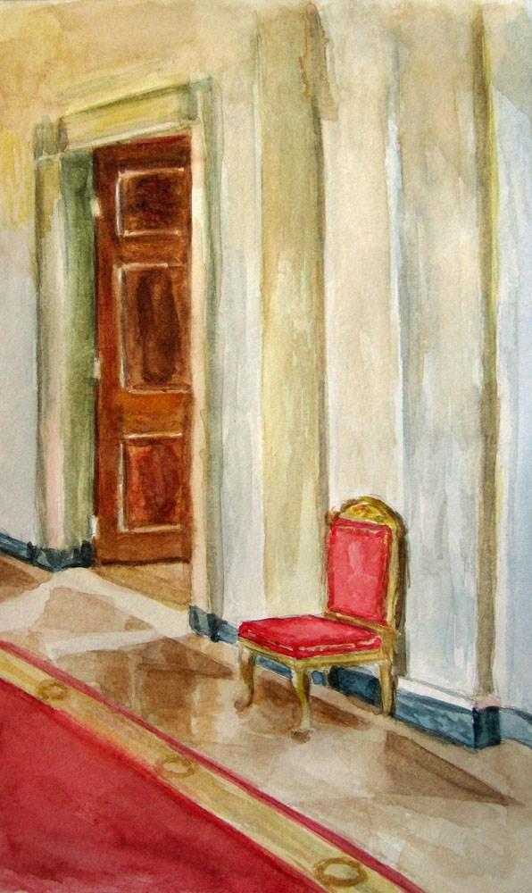 """White House Corridor"" original fine art by Ulrike Miesen-Schuermann"