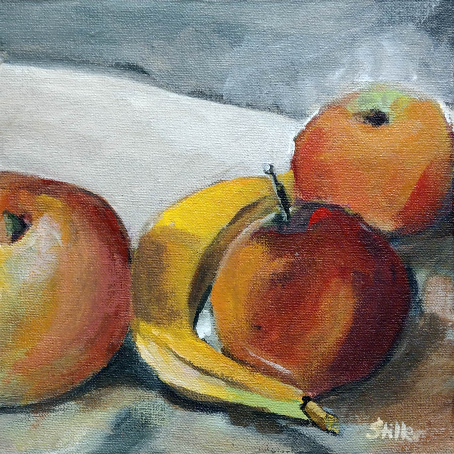 """2257 Cezanne's Fruits"" original fine art by Dietmar Stiller"