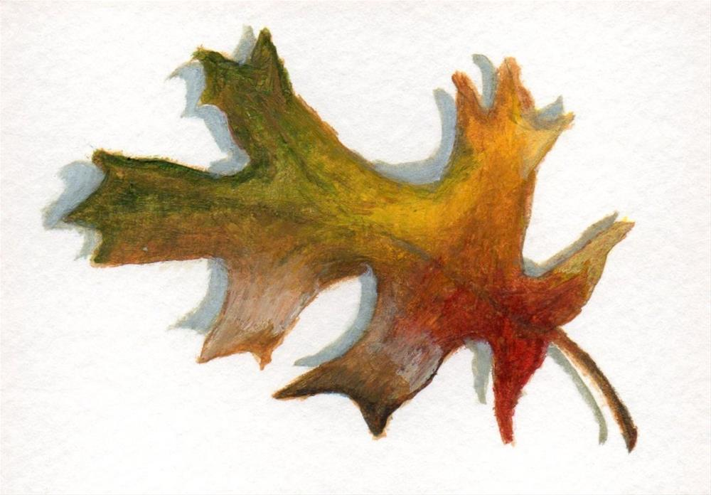 """Fallen Leaves 6"" original fine art by Debbie Shirley"