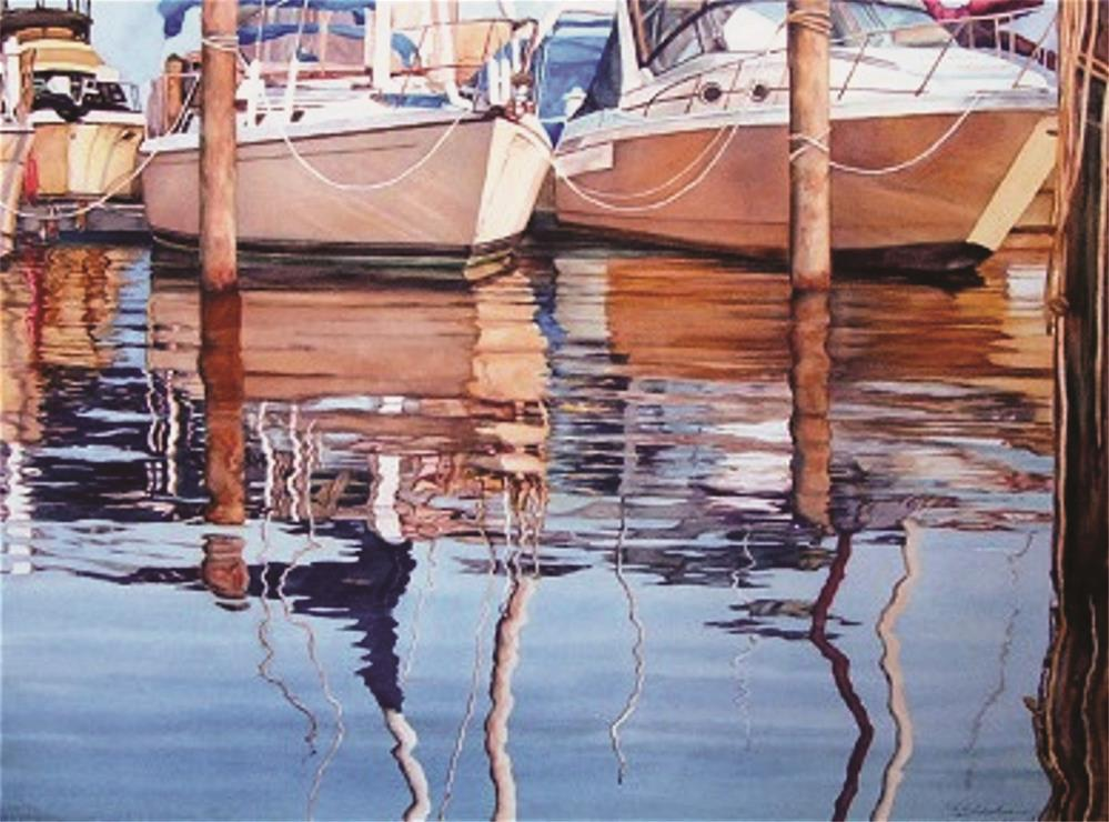 """Hull Reflections"" original fine art by Elaine Hahn"