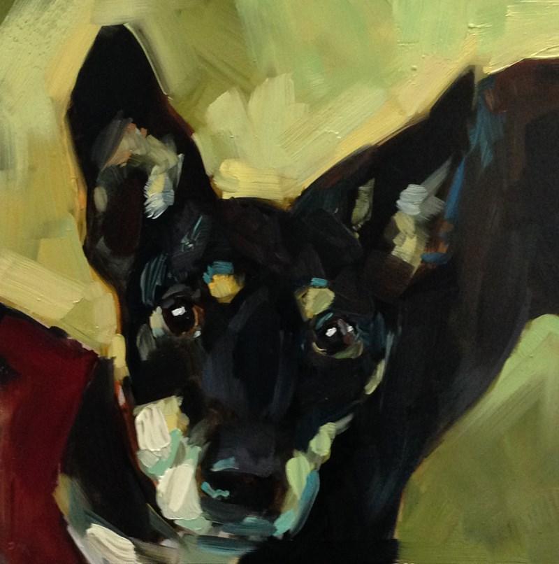 """Blue Buddy"" original fine art by Patti McNutt"
