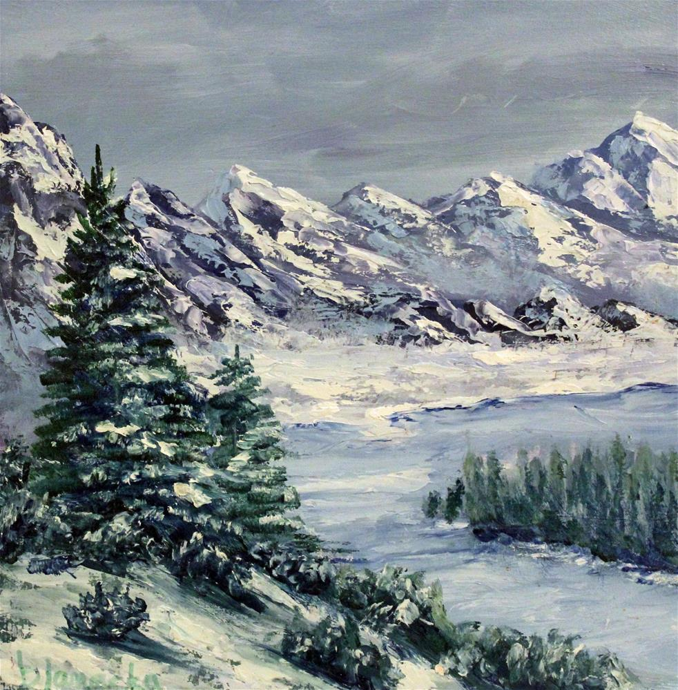 """Winter is here"" original fine art by Barbara Janecka"