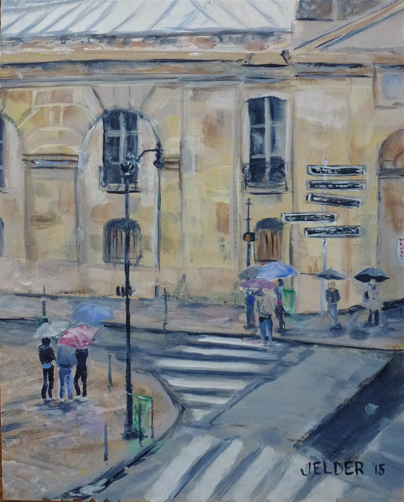 """On a Corner of Rue des Archives, Paris No. 76"" original fine art by Judith Elder"