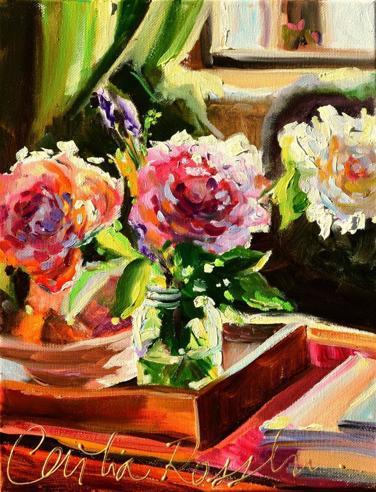 """""""FLEURS DE JARDIN"""" original fine art by Cecilia Rosslee"""