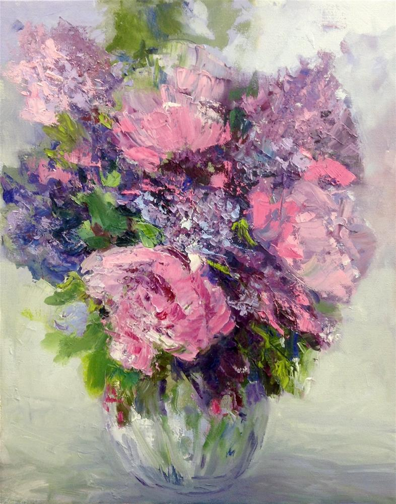 """""""Passion for Pink"""" original fine art by Cathy Boyd"""