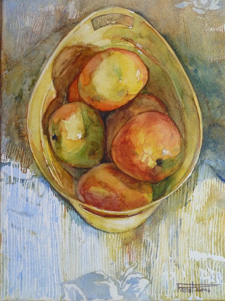 """""""Mango Bin"""" original fine art by Rosslyn Berot"""