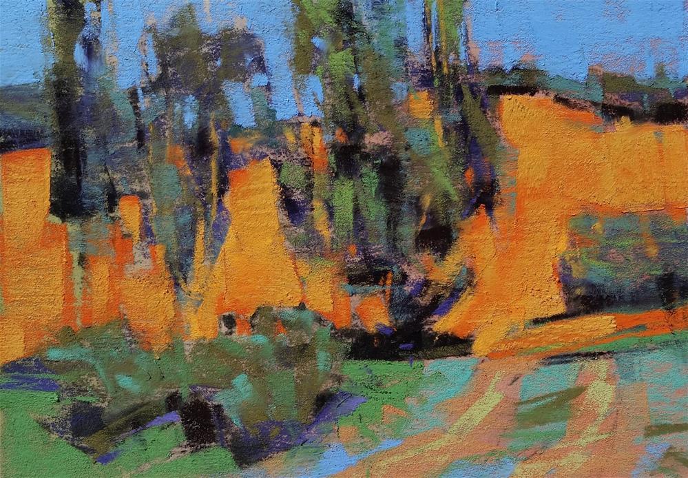 """Sleepy Hollow Cypress"" original fine art by Jennifer Evenhus"