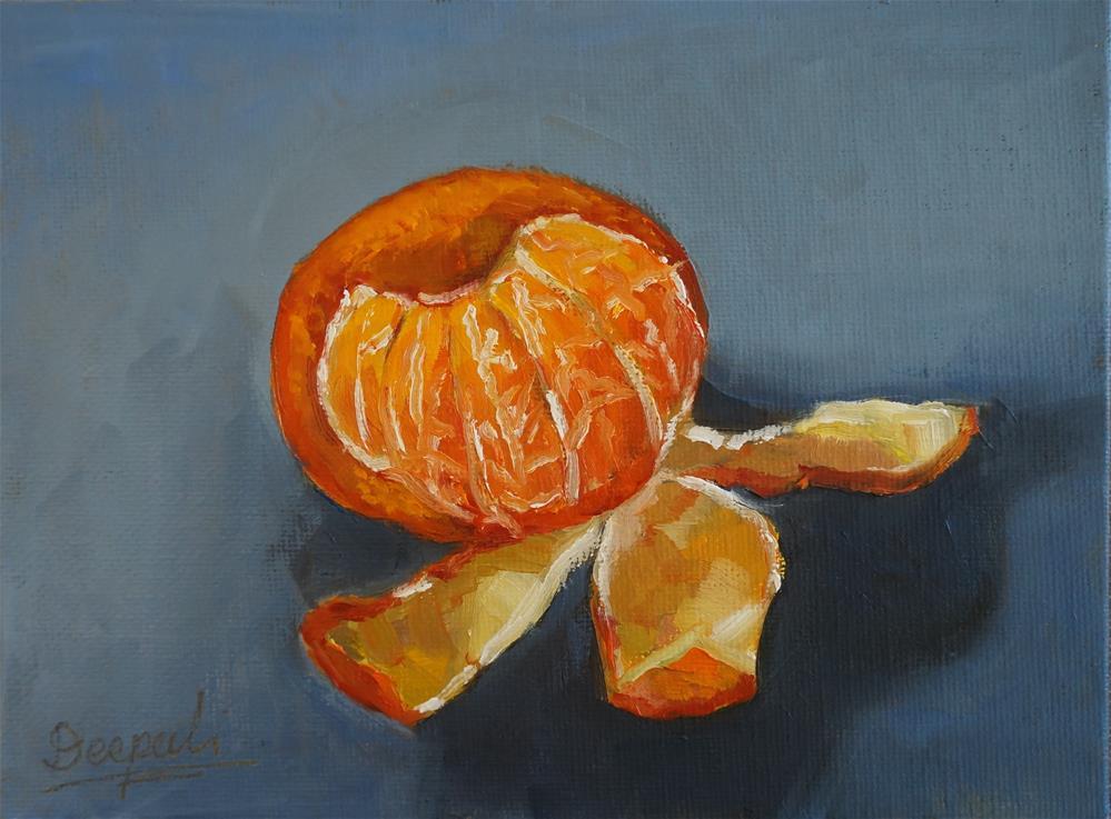 """Peeled Orange"" original fine art by Dipali Rabadiya"
