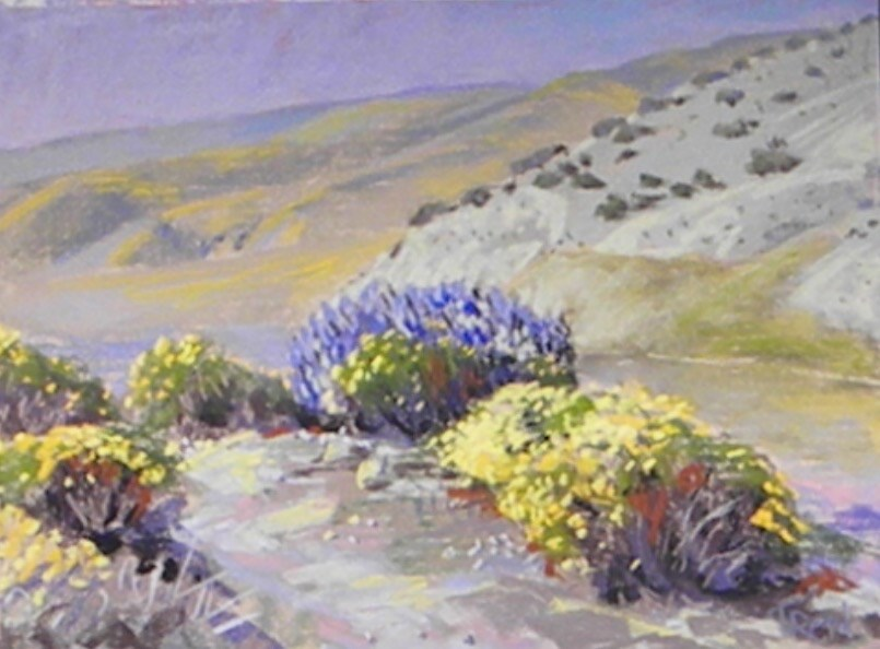 """The bluff flowers"" original fine art by Toby Reid"