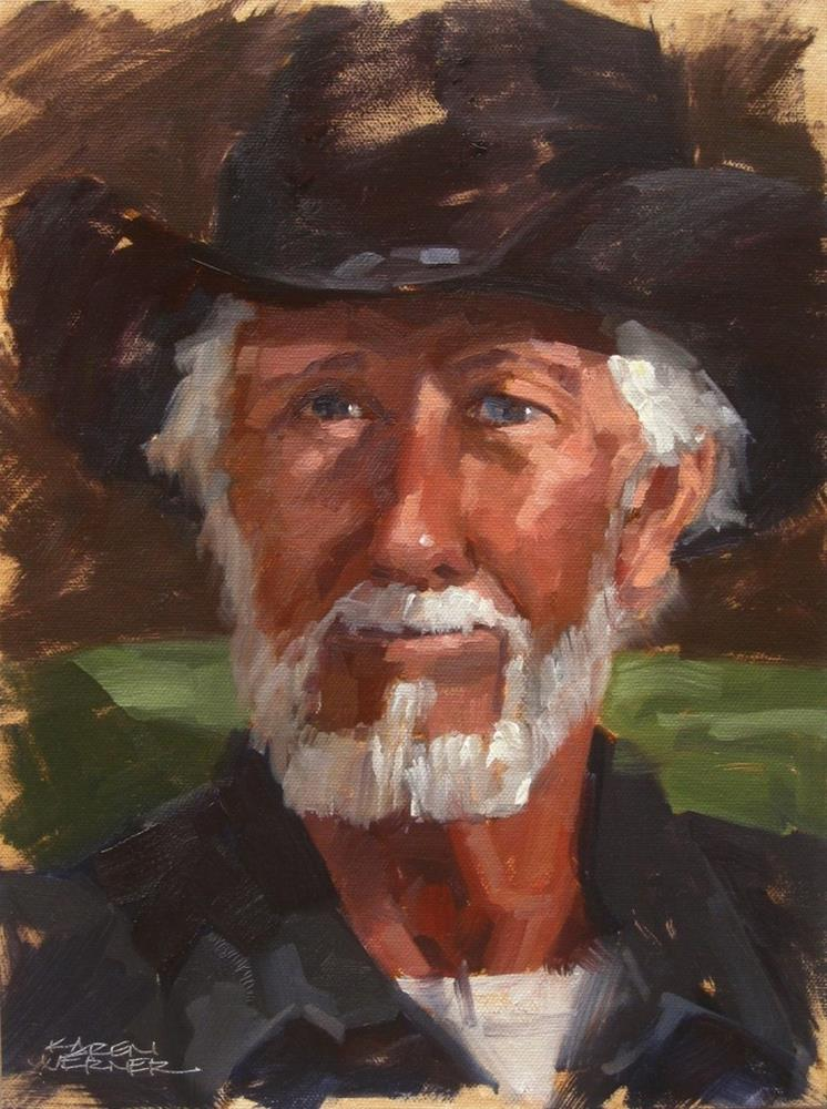 """""""Bill"""" original fine art by Karen Werner"""