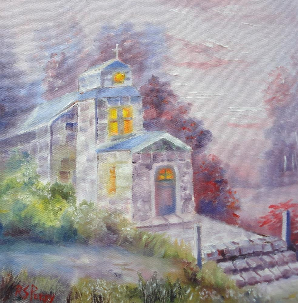 """Church"" original fine art by R. S. Perry"