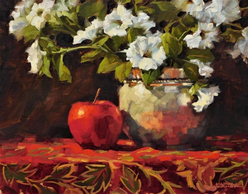 """""""Upstaged Apple"""" original fine art by Karen Werner"""