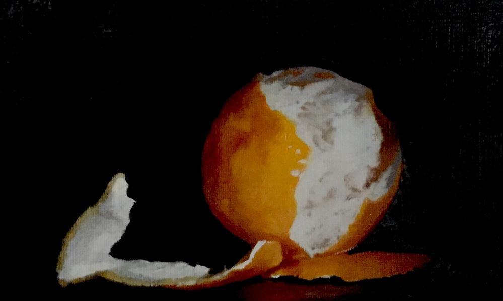 """Peeled Orange"" original fine art by John Cameron"