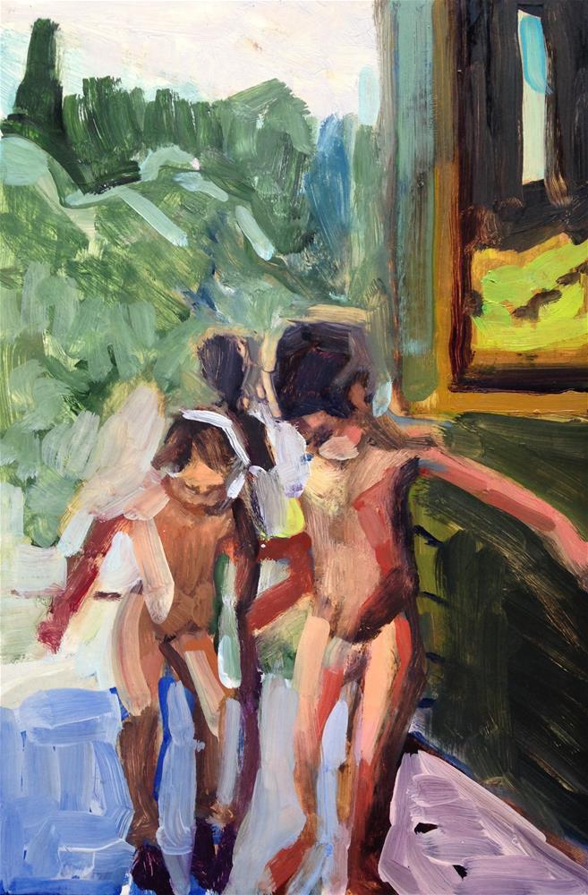 """Summer Children"" original fine art by Pamela Hoffmeister"