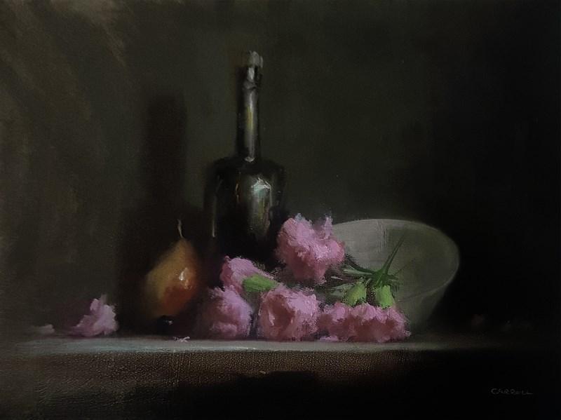 """""""Arrangement with Carnations"""" original fine art by Neil Carroll"""
