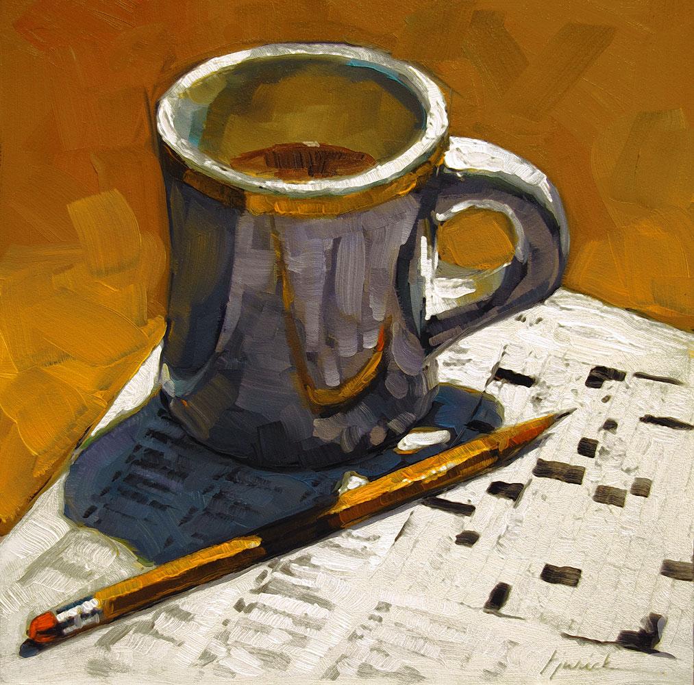 """""""Morning Exercise"""" original fine art by Karin Jurick"""