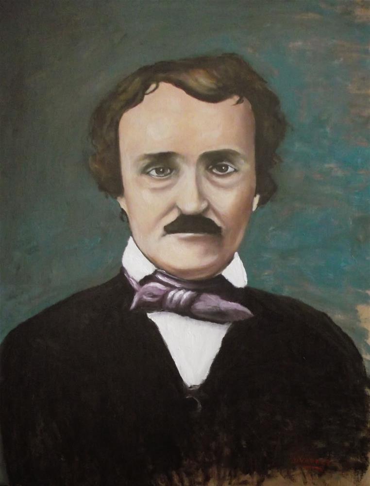 """Edgar Allan Poe"" original fine art by Daniel Varney"