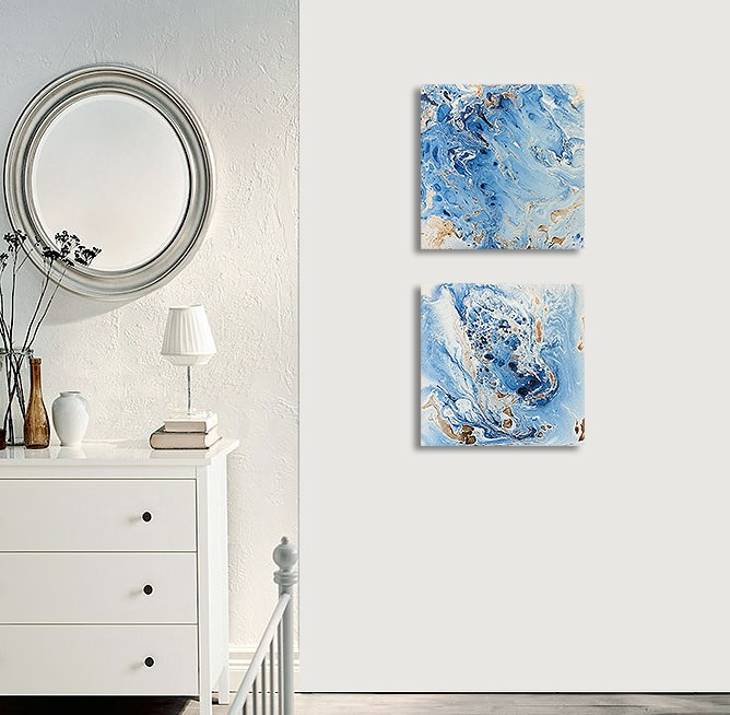 """Abstract #339 Set"" original fine art by Sunny Avocado"
