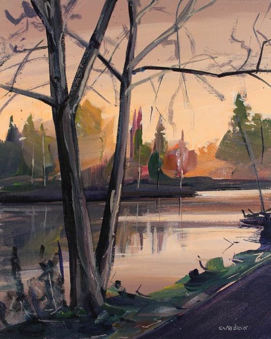 """Audubon Sunrise"" original fine art by Chris Breier"