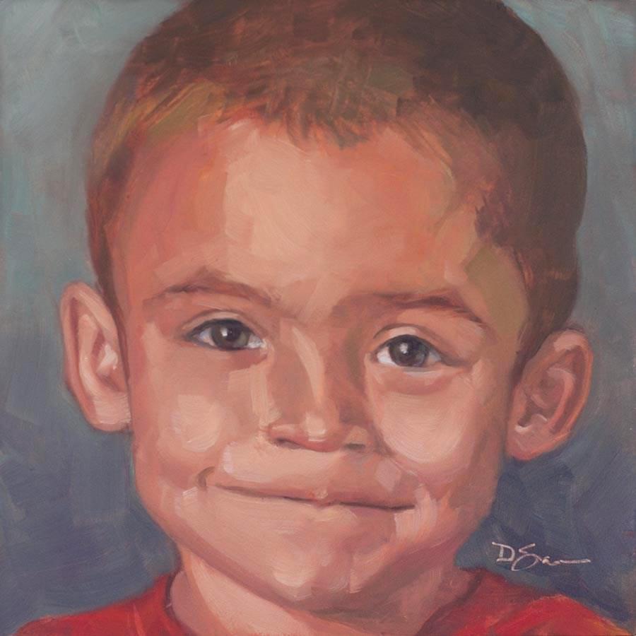 """Eyes of Love No.21 Jacob C"" original fine art by Deborah Savo"