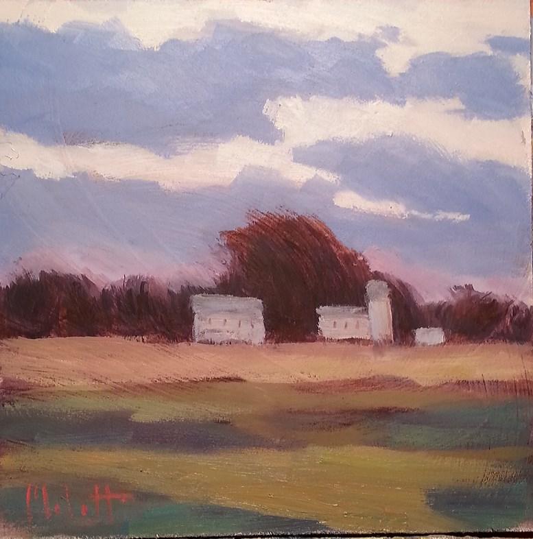 """Cold Wind Rural Landscape Original Oil Painting"" original fine art by Heidi Malott"