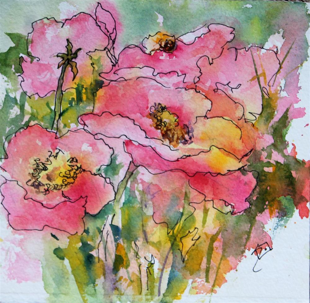"""Poppy Promises"" original fine art by Sue Dion"