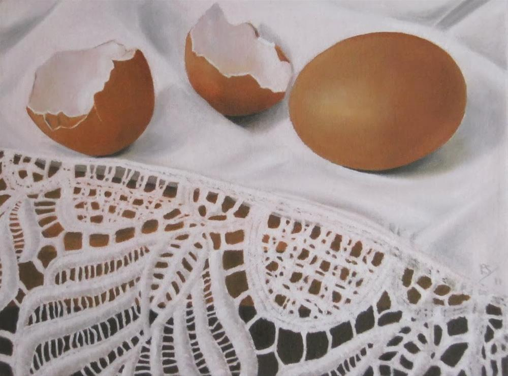 """Egg and Lace"" original fine art by Pera Schillings"