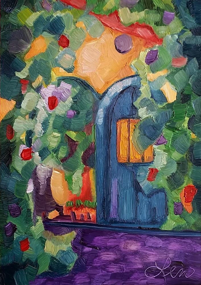 """""""Sun Garden"""" original fine art by Leni Tarleton"""