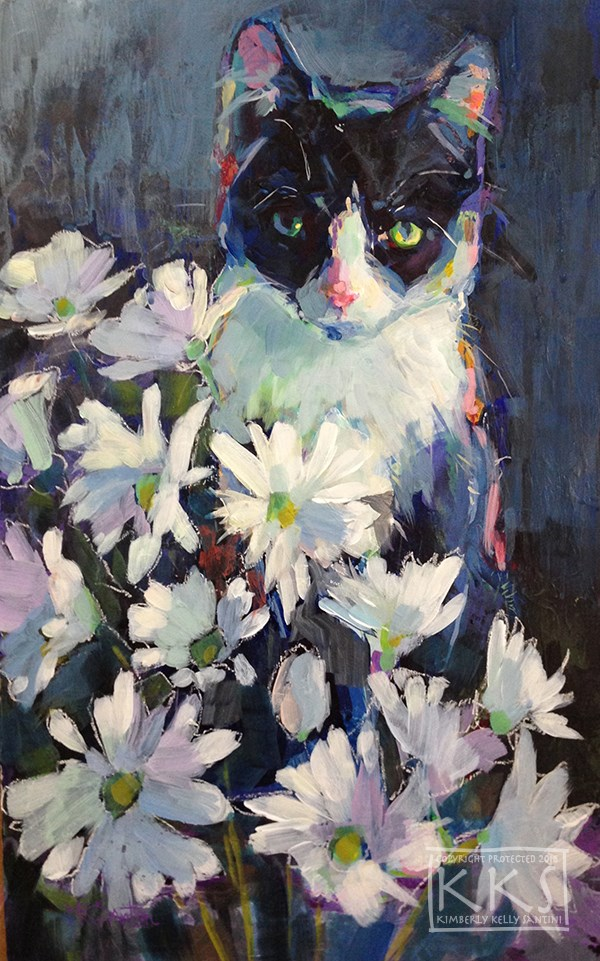 """Daisy"" original fine art by Kimberly Santini"