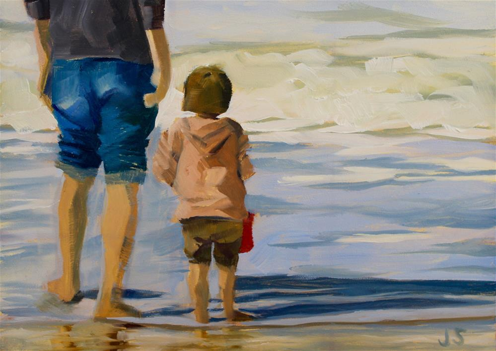 """Daddy-Daughter Time"" original fine art by Jamie Stevens"