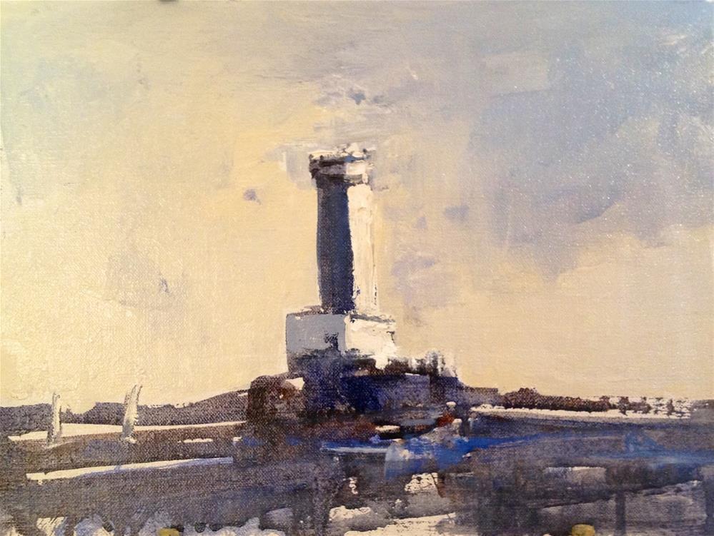 """""""Watchtower 9x12 oil 2014"""" original fine art by Deborah R Hill"""