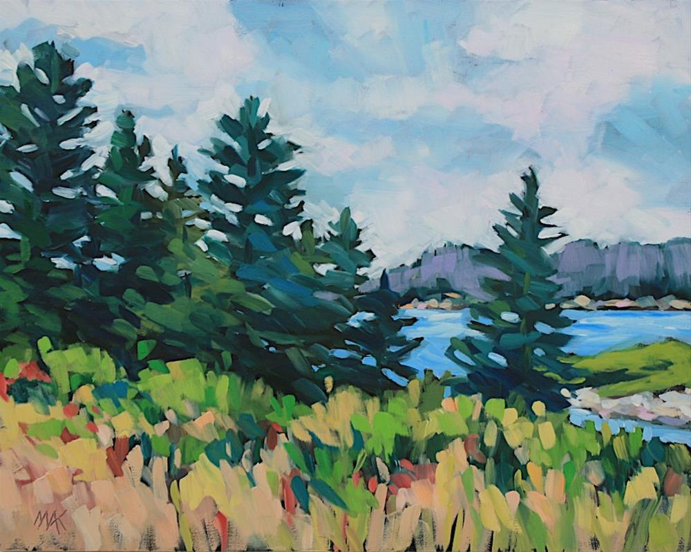 """""""Pine View"""" original fine art by Mary Anne Cary"""