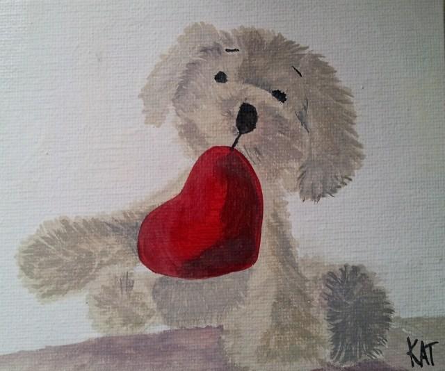 """""""Happy Valentines Day"""" original fine art by Kathleen Carrier"""