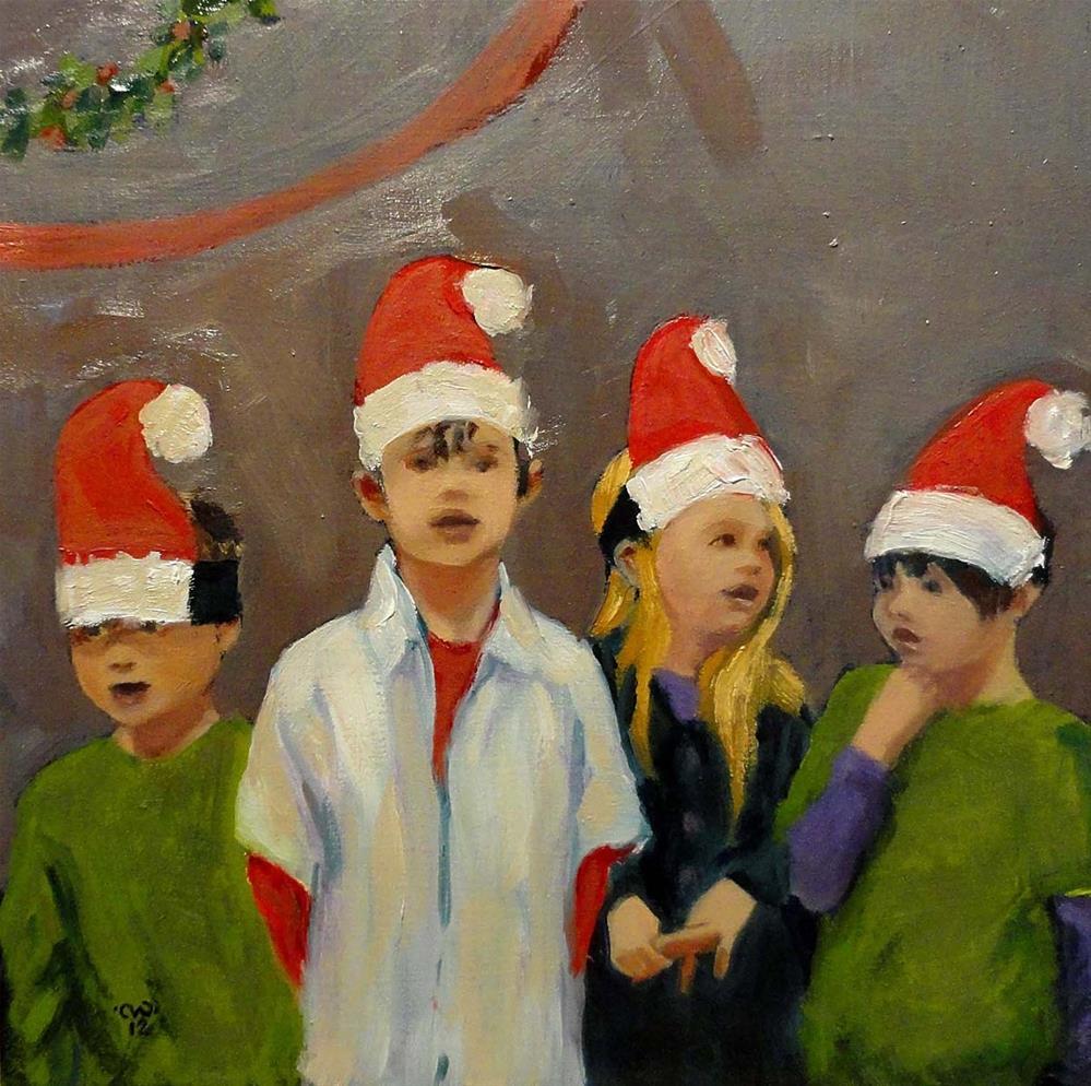 """Elf Choir"" original fine art by Cietha Wilson"