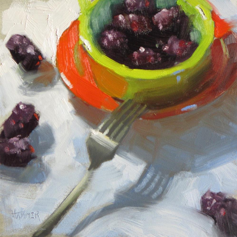 """""""Ready to eat  6in x 6in   oil"""" original fine art by Claudia Hammer"""