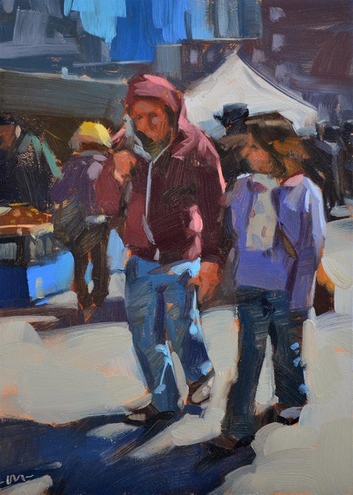 """Honey, Lose the Hood"" original fine art by Carol Marine"