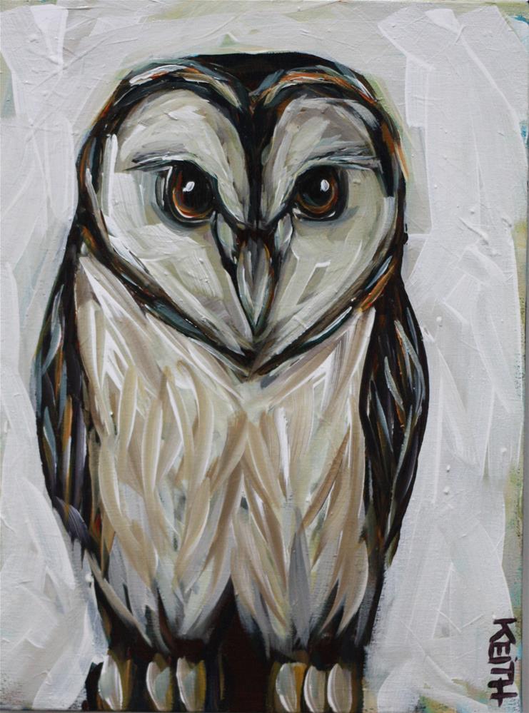 """Whootie"" original fine art by Kandice Keith"
