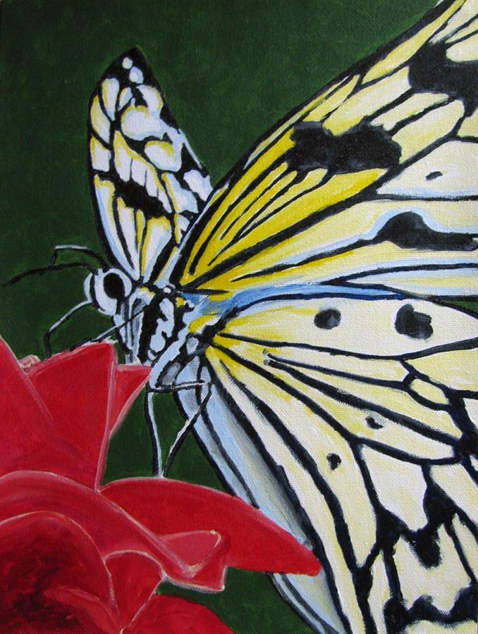 """On The Flower"" original fine art by Nan Johnson"