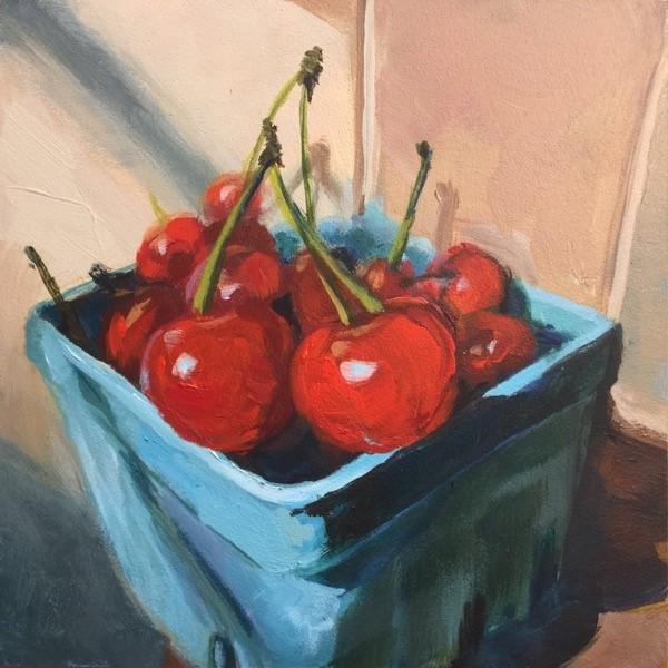"""Sour Cherries"" original fine art by Mary Pargas"
