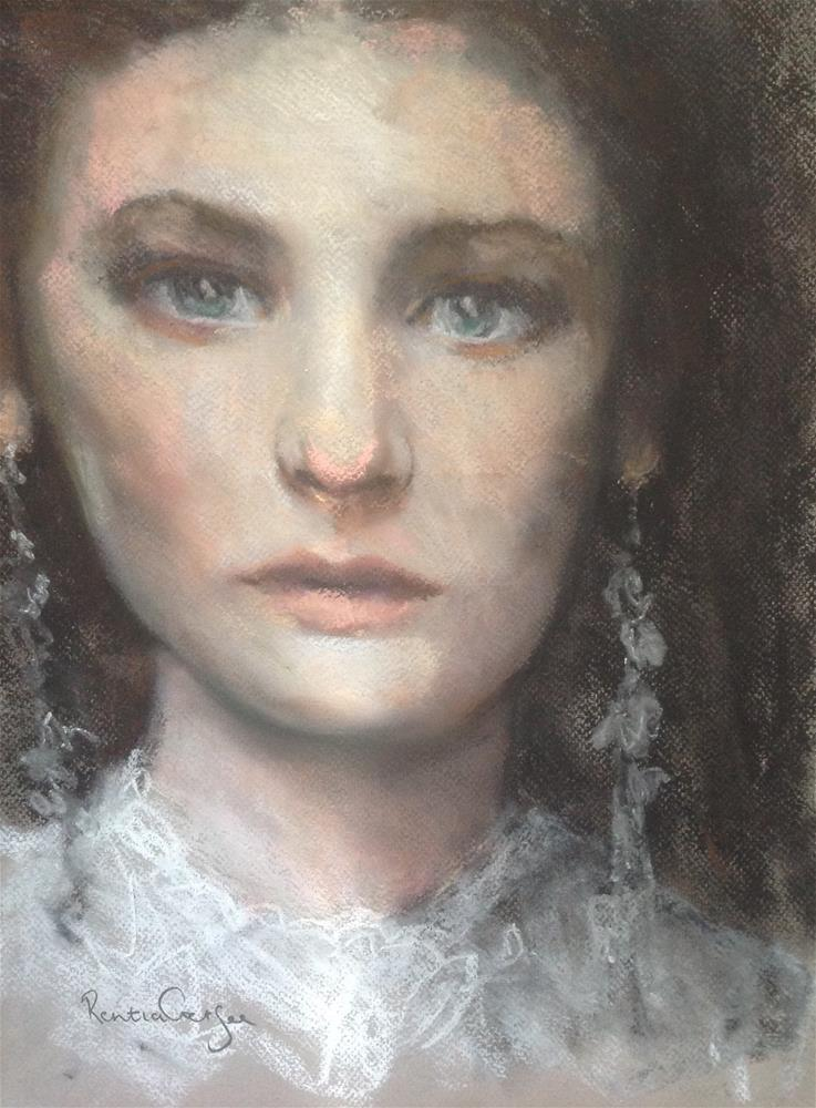 """On the catwalk"" original fine art by Rentia Coetzee"