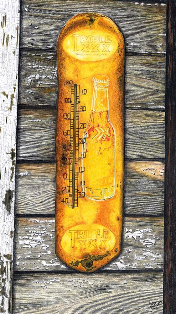 """Weathered Weather"" original fine art by Valorie Sams"