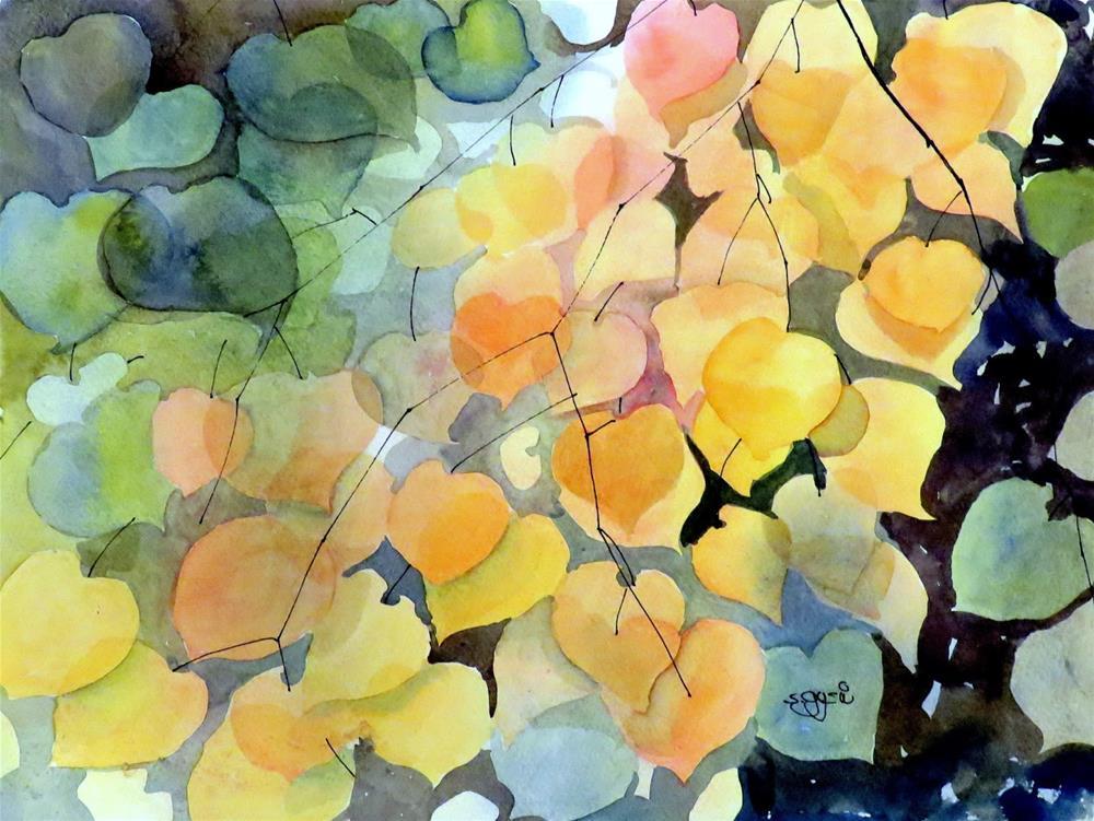 """""""When I was walking #7"""" original fine art by Suzanne Gysin"""