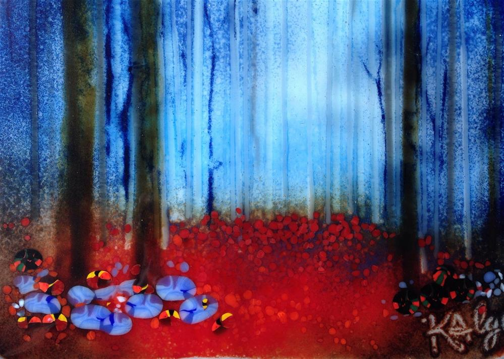 """Enchanted Blue Forest"" original fine art by Kelly Alge"
