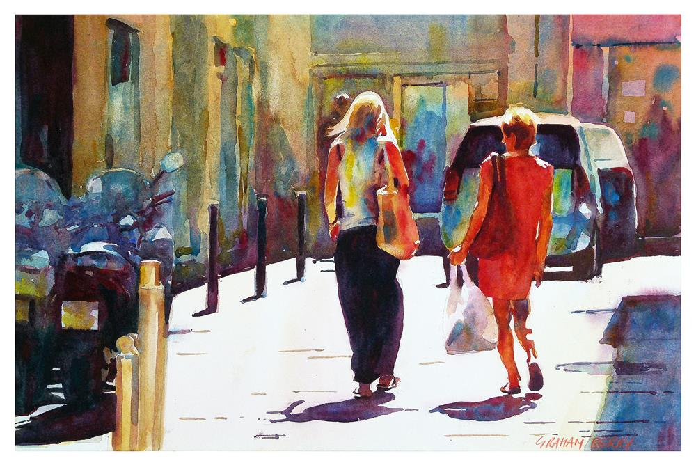 """""""Lady in red"""" original fine art by Graham Berry"""